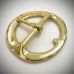Heavy Brass Double Bar Cinch Buckle